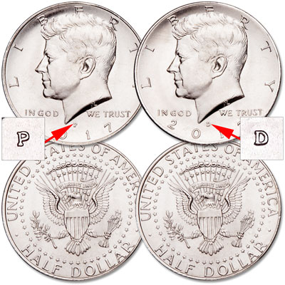 Image for 2017 P&D Kennedy Half Dollar Set from Littleton Coin Company