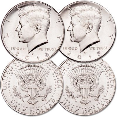 Image for 2018 P&D Kennedy Half Dollar Set from Littleton Coin Company