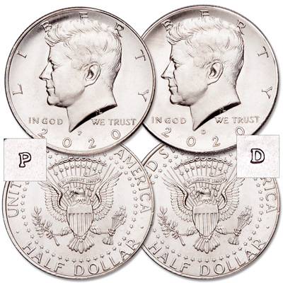 Image for 2020 P&D Kennedy Half Dollar Set from Littleton Coin Company