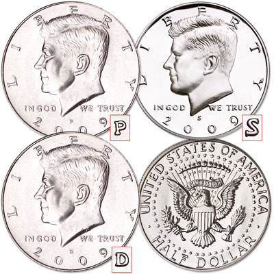 Image for 2009 Complete PDS Kennedy Half Dollar Set, Uncirculated/Proof from Littleton Coin Company