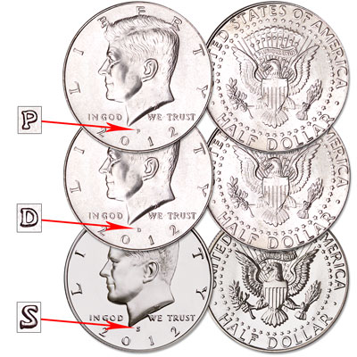 Image for 2012 Complete PDS Kennedy Half Dollar Set from Littleton Coin Company