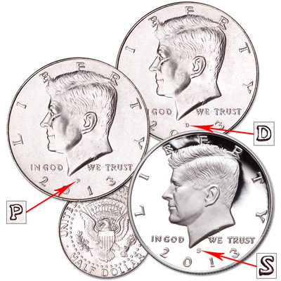 Image for 2013 Complete PDS Kennedy Half Dollar Set from Littleton Coin Company