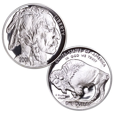 Image for 2001-P American Buffalo Silver Dollar with Case, Choice Proof, PR63 from Littleton Coin Company