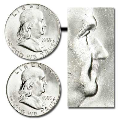 Image for 1955 Franklin Half Dollar Variety Set from Littleton Coin Company