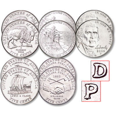 Image for 2004-2006 Westward Journey Nickel Set from Littleton Coin Company
