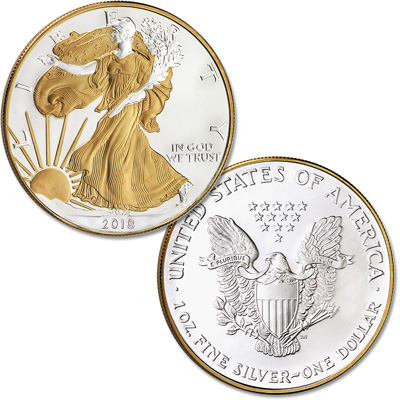 Image for 2018 Electroplated Silver American Eagle with Box from Littleton Coin Company