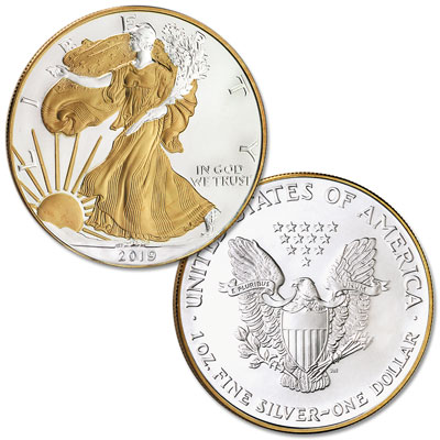 Image for 2019 Electroplated Silver American Eagle with Box from Littleton Coin Company
