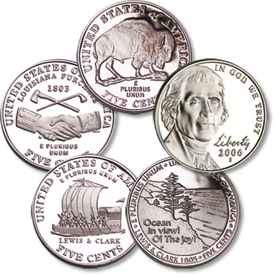 "Image for 2004-2006 ""S"" Westward Journey Nickel Set, Choice Proof, PR63 from Littleton Coin Company"