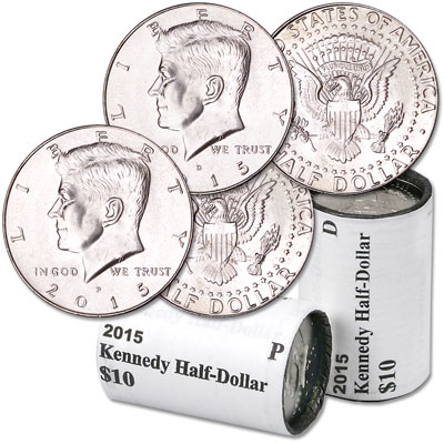 Image for 2015 P&D Kennedy Half Dollar Rolls from Littleton Coin Company