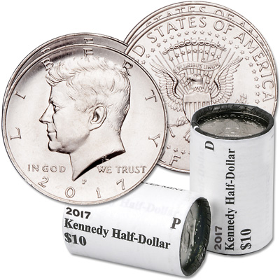 Image for 2017 P&D Kennedy Half Dollar Rolls from Littleton Coin Company