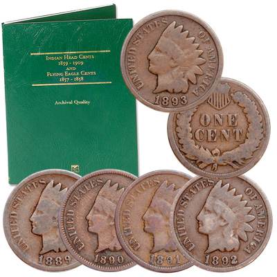 Image for 1889-1893 Indian Head Cent Set from Littleton Coin Company