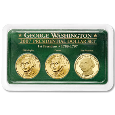 Image for 2007 Washington Dollar in PDS Showpak®, Uncirculated/Proof from Littleton Coin Company