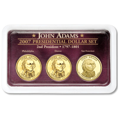 Image for 2007 Adams Dollar in Exclusive PDS Showpak®, Uncirculated/Proof from Littleton Coin Company