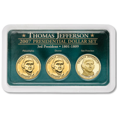 Image for 2007 Jefferson Dollar in Exclusive PDS Showpak®, Uncirculated/Proof from Littleton Coin Company