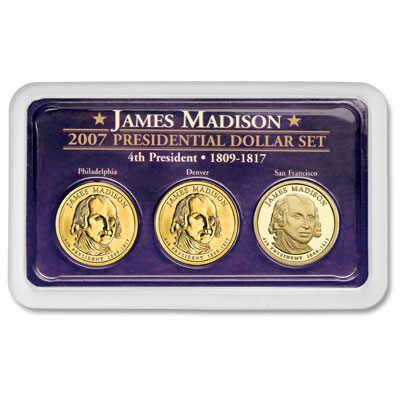 Image for 2007 Madison Dollar in Exclusive PDS Showpak®, Uncirculated/Proof from Littleton Coin Company