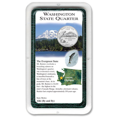 Image for 2007 Washington Quarter in Exclusive Showpak®, Uncirculated, MS-60 from Littleton Coin Company