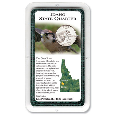 Image for 2007 Idaho Statehood Quarter in Exclusive Showpak®, Uncirculated from Littleton Coin Company