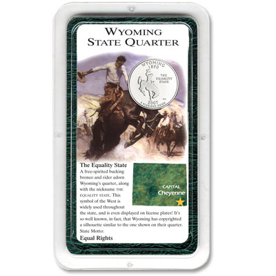 Image for 2007 Wyoming Quarter in Exclusive Showpak®, Uncirculated, MS-60 from Littleton Coin Company