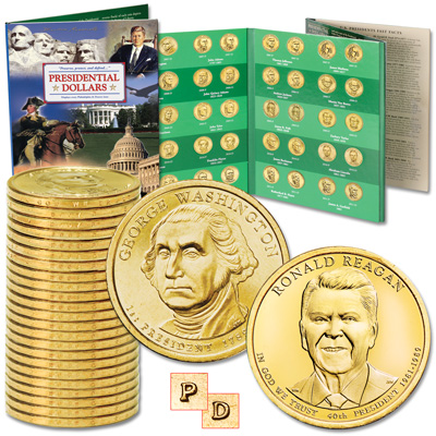 Image for 2007-2016 P&D Presidential Dollar Set with Folder from Littleton Coin Company