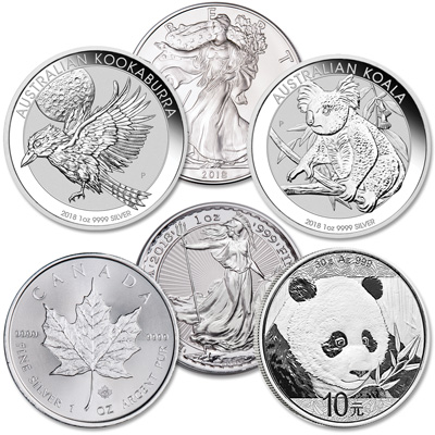 Image for 2018 Silver World Coins from Littleton Coin Company