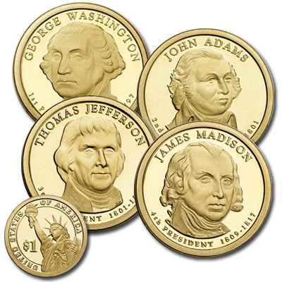 Image for 2007-S Presidential Dollar Proof Year Set from Littleton Coin Company