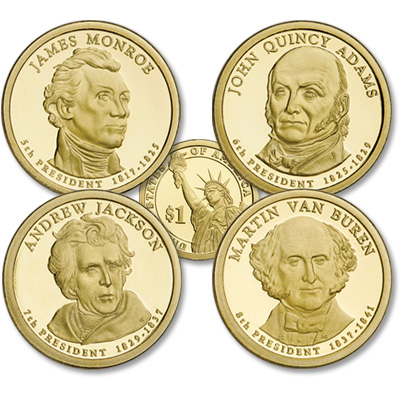Image for 2008-S Presidential Dollar Proof Year Set from Littleton Coin Company