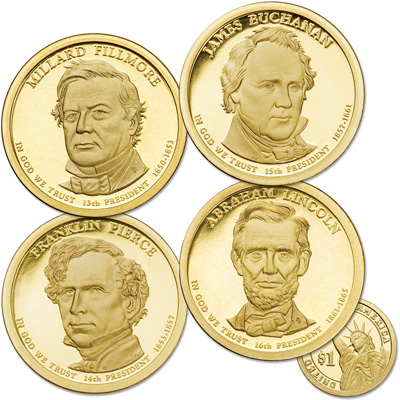 Image for 2010-S Presidential Dollar Proof Year Set from Littleton Coin Company