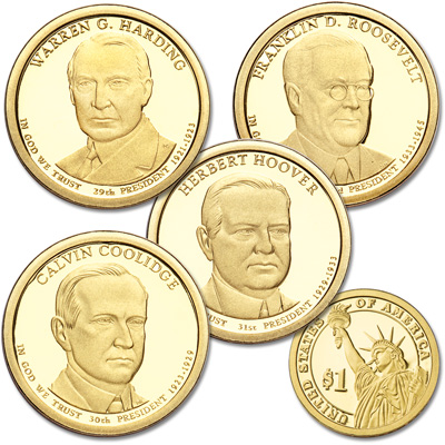 Image for 2014-S Presidential Dollar Proof Year Set from Littleton Coin Company