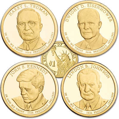 Image for 2015-S Presidential Dollar Proof Year Set from Littleton Coin Company