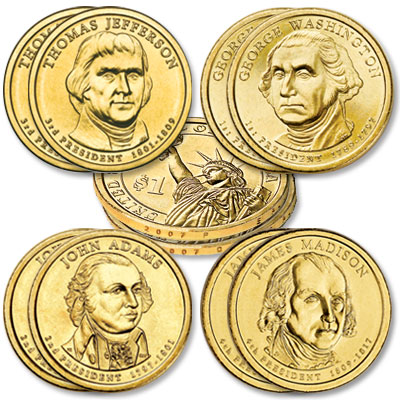 Image for 2007 Presidential Dollar P&D Mint Set (8 coins) from Littleton Coin Company