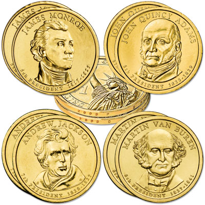 Image for 2008 Presidential Dollar P&D Mint Set (8 coins) from Littleton Coin Company