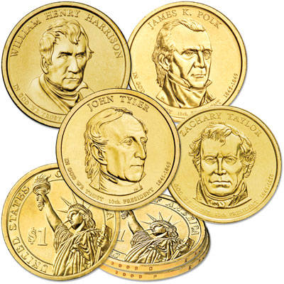 Image for 2009 Presidential Dollar P&D Mint Set (8 coins) from Littleton Coin Company