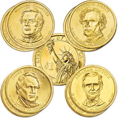 Image for 2010 Presidential Dollar P&D Mint Set (8 coins) from Littleton Coin Company