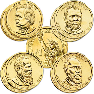 Image for 2011 Presidential Dollar P&D Mint Set (8 coins) from Littleton Coin Company