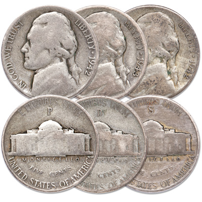 Image for 1942-1945 Wartime Nickel All-Mint Set from Littleton Coin Company