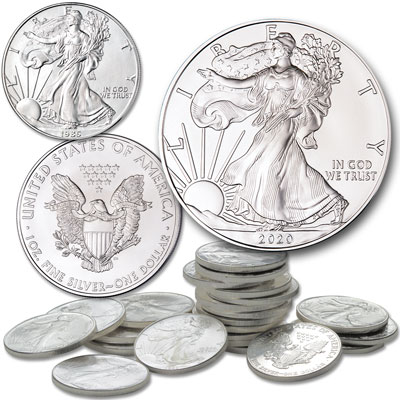 Image for 1986-2020 American Eagle Silver Dollar Set from Littleton Coin Company