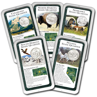 Image for All Five 2006 Statehood Quarter Showpaks from Littleton Coin Company