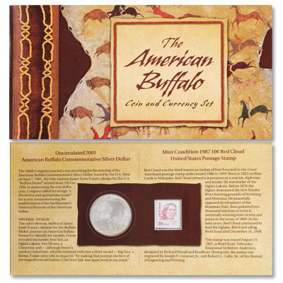 Image for 2001-D American Buffalo Commemorative Coin & Stamp Set from Littleton Coin Company