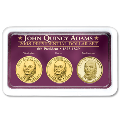 Image for 2008 J. Q. Adams Presidential Dollar in Exclusive PDS Showpak, Uncirculated/Proof from Littleton Coin Company