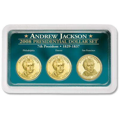 Image for 2008 Andrew Jackson Presidential Dollar in PDS Showpak®, Uncirculated/Proof from Littleton Coin Company