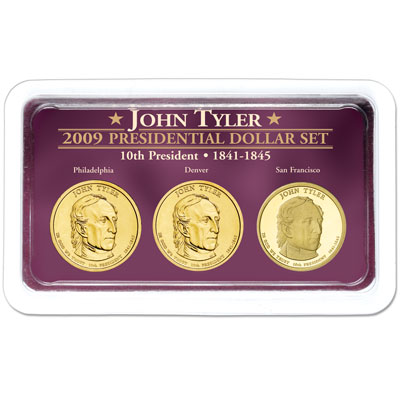 Image for 2009 Tyler Presidential Dollar in Exclusive PDS Showpak, Uncirculated/Proof from Littleton Coin Company