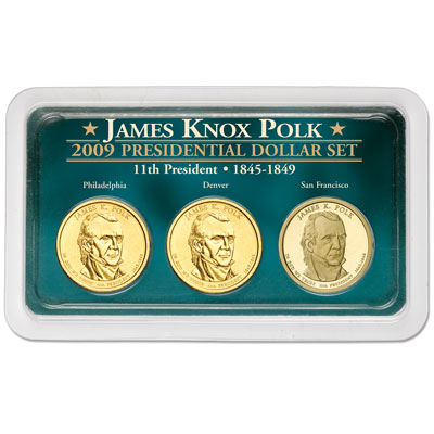 Image for 2009 James K. Polk Presidential Dollar in Exclusive PDS Showpak, Uncirculated/Proof from Littleton Coin Company