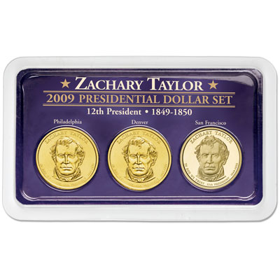 Image for 2009 Taylor Presidential Dollar in Exclusive PDS Showpak, Uncirculated/Proof from Littleton Coin Company