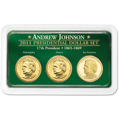 Image for 2011 Johnson Presidential Dollar in Exclusive PDS Showpak from Littleton Coin Company