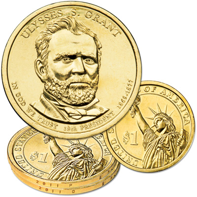 Image for 2011 P&D Ulysses S. Grant Presidential Dollar Set from Littleton Coin Company