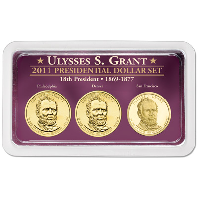 Image for 2011 Grant Presidential Dollar in Exclusive PDS Showpak from Littleton Coin Company