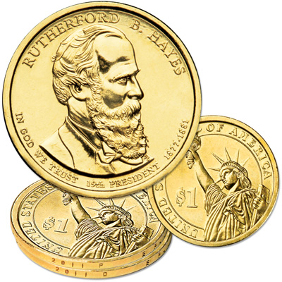 Image for 2011 P&D Rutherford B. Hayes Presidential Dollar Set from Littleton Coin Company