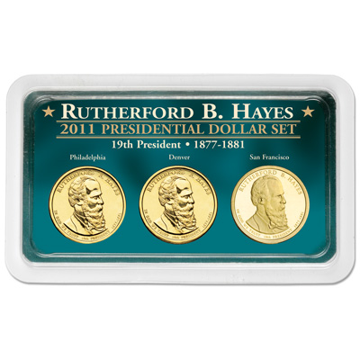 Image for 2011 Hayes Presidential Dollar in Exclusive PDS Showpak from Littleton Coin Company