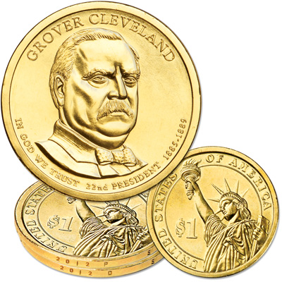 Image for 2012 P&D Grover Cleveland Presidential Dollar Set from Littleton Coin Company
