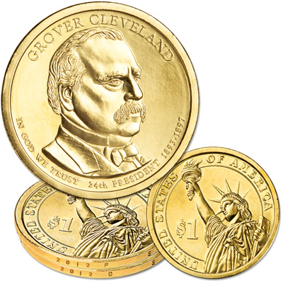 Image for 2012 P&D Grover Cleveland (Term 2) Presidential Dollar Set from Littleton Coin Company